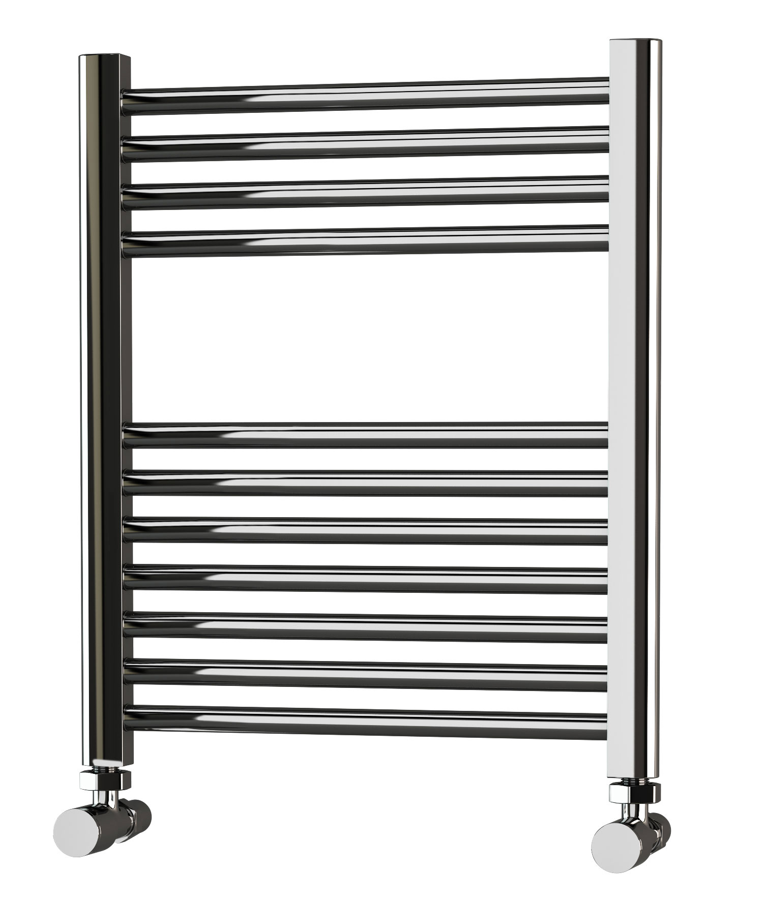 600mm Wide 800mm High Straight Chrome Heated Towel Rail: Eastgate Straight Chrome Heated Towel Rail 600mm High X