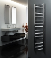 Eastgate Straight Polished 304 Stainless Steel Heated Towel Rail 1600mm High x 350mm Wide