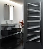 Eastgate Straight Polished 304 Stainless Steel Heated Towel Rail 1600mm High x 600mm Wide
