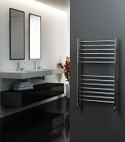 Eastgate Straight Polished 304 Stainless Steel Heated Towel Rail 800mm High x 600mm Wide