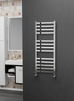 Eastgate Leo Square Tube Stainless Steel Heated Towel Rail 1000mm High x 400mm Wide