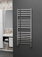 Eastgate Leo Square Tube Stainless Steel Heated Towel Rail 1200mm High x 500mm Wide