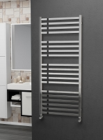 Eastgate Leo Square Tube Stainless Steel Heated Towel Rail 1400mm High x 600mm Wide