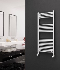 Curved White Electric Towel Rails