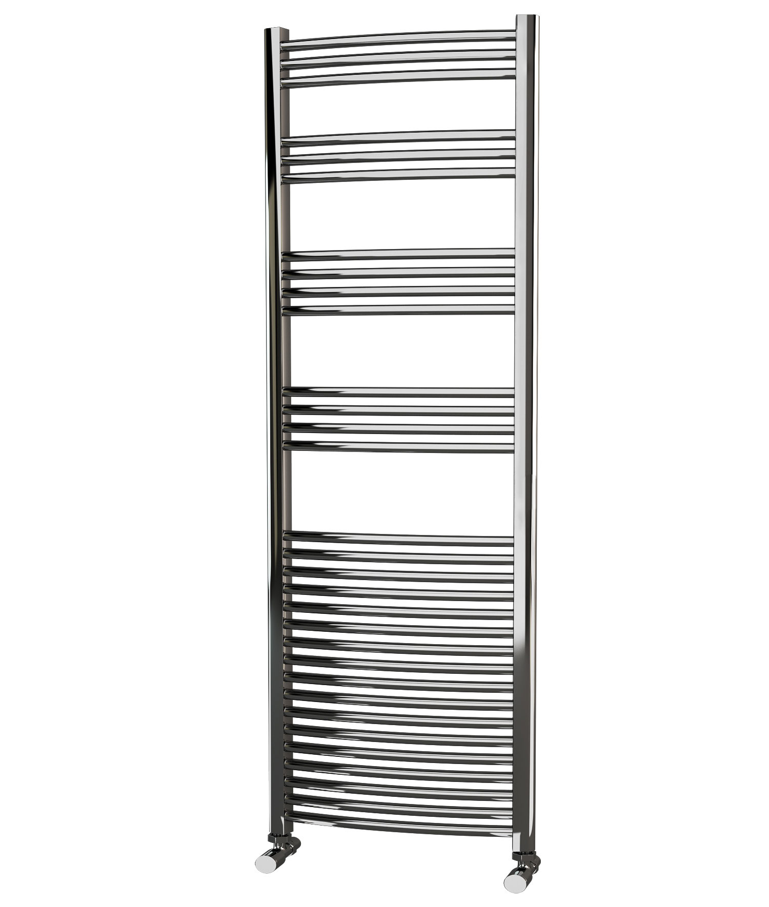 Kudox Electric Towel Rail Straight Standard 600mm X 1800mm: Eastgate Curved Chrome Heated Towel Rail 1800mm High X