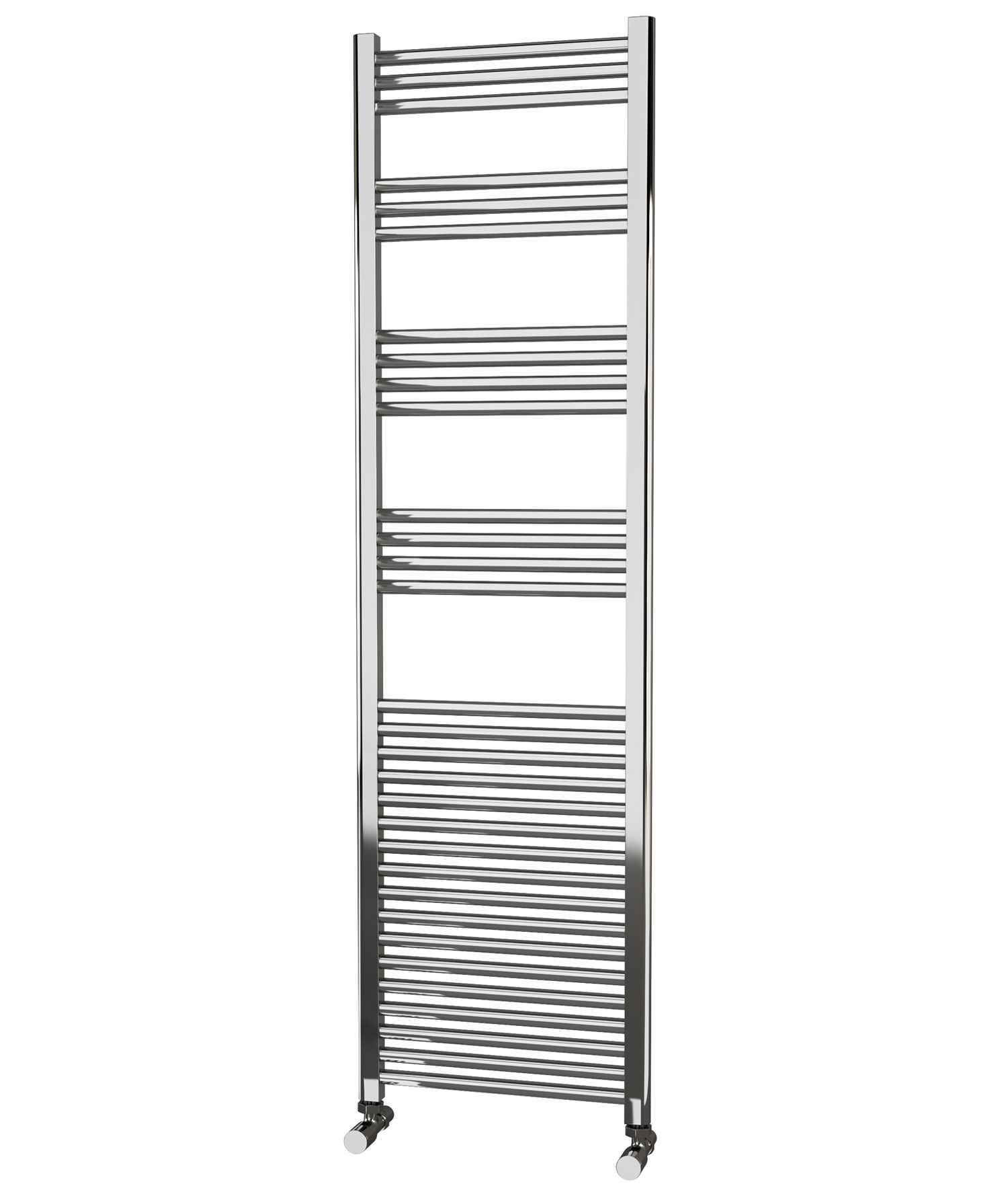 650x400mm Electric Straight Heated Towel Rail: Eastgate Straight Chrome Heated Towel Rail 1800mm High X