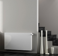 Eastgate Kompact White Single Panel Flat Horizontal Radiator 400mm High x 400mm Wide