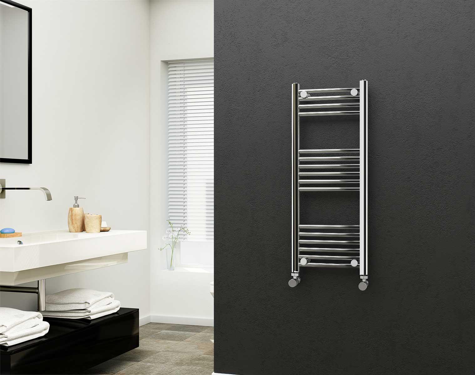 Eastgate Chrome Straight Heated Towel Rail 1000mm High X