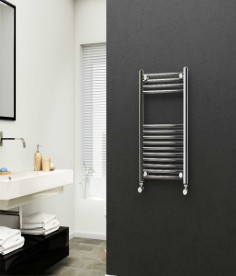Straight Chrome Electric Towel Rails