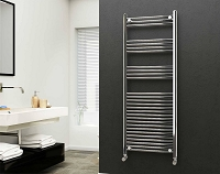Eastgate 22mm Steel Chrome Straight Heated Towel Rail 1600mm High x 600mm Wide Electric Only