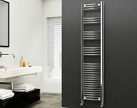Eastgate 22mm Steel Chrome Straight Heated Towel Rail 1800mm High x 400mm Wide Electric Only
