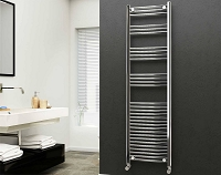 Eastgate 22mm Steel Chrome Straight Heated Towel Rail 1800mm High x 500mm Wide Electric Only