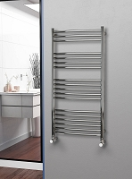 Eastgate Curved Polished 304 Stainless Steel Heated Towel Rail 1200mm High x 600mm Wide