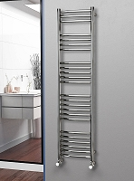 Eastgate Curved Polished 304 Stainless Steel Heated Towel Rail 1600mm High x 400mm Wide Electric Only