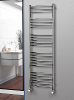 Eastgate Curved Polished 304 Stainless Steel Heated Towel Rail 1600mm High x 500mm Wide Electric Only