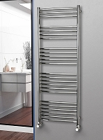 Eastgate Curved Polished 304 Stainless Steel Heated Towel Rail 1600mm High x 600mm Wide Electric Only