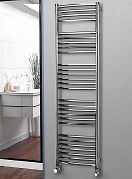 Eastgate Curved Polished 304 Stainless Steel Heated Towel Rail 1800mm High x 500mm Wide Electric Only