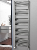 Eastgate Curved Polished 304 Stainless Steel Heated Towel Rail 1800mm High x 600mm Wide Electric Only