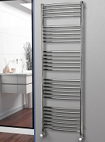 Eastgate Curved Polished 304 Stainless Steel Heated Towel Rail 1800mm High x 600mm Wide
