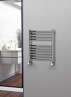Eastgate Curved Polished 304 Stainless Steel Heated Towel Rail 600mm High x 500mm Wide Electric Only