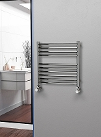 Eastgate Curved Polished 304 Stainless Steel Heated Towel Rail 600mm High x 600mm Wide Electric Only