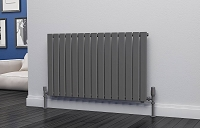 Eastgate Eben Anthracite Horizontal Single Panel Flat Tube Designer Radiator 600mm High x 1020mm Wide