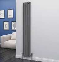 Eastgate Eben Anthracite Vertical Single Panel Flat Tube Designer Radiator 1800mm High x 272mm Wide