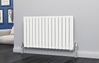 Eastgate Eben White Horizontal Double Panel Flat Tube Designer Radiator 600mm High x 1020mm Wide Electric Only