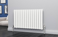 Eastgate Eben White Horizontal Single Panel Flat Tube Designer Radiator 600mm High x 1020mm Wide Electric Only