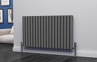 Eastgate Eclipse Anthracite Double Panel Horizontal Designer Radiator 600mm High x 1044mm Wide