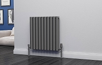 Eastgate Eclipse Anthracite Double Panel Horizontal Designer Radiator 600mm High x 580mm Wide