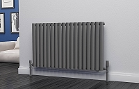 Eastgate Eclipse Anthracite Single Panel Horizontal Designer Radiator 600mm High x 1044mm Wide