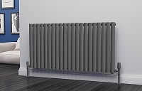 Eastgate Eclipse Anthracite Single Panel Horizontal Designer Radiator 600mm High x 1218mm Wide