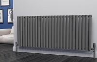 Eastgate Eclipse Anthracite Single Panel Horizontal Designer Radiator 600mm High x 1508mm Wide