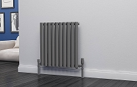 Eastgate Eclipse Anthracite Single Panel Horizontal Designer Radiator 600mm High x 580mm Wide