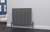 Eastgate Eclipse Anthracite Single Panel Horizontal Designer Radiator 600mm High x 812mm Wide Electric Only