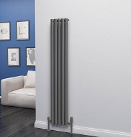Eastgate Eclipse Anthracite Single Panel Vertical Radiator 1600mm High x 290mm Wide