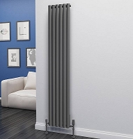 Eastgate Eclipse Anthracite Single Panel Vertical Radiator 1800mm High x 348mm Wide