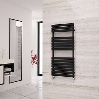 Eastgate Eclipse Black Designer Heated Towel Rail 1120mm High x 500mm Wide