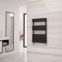 Eastgate Eclipse Black Designer Heated Towel Rail 825mm High x 500mm Wide Electric Only