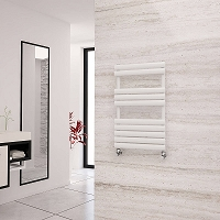 Eastgate Eclipse White Designer Heated Towel Rail 825mm High x 500mm Wide Electric Only