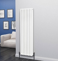Eastgate Eclipse White Double Panel Vertical Radiator 1600mm High x 464mm Wide