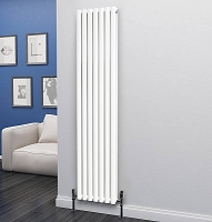 Eastgate Eclipse White Double Panel Vertical Radiator 1800mm High x 406mm Wide
