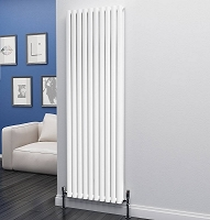 Eastgate Eclipse White Double Panel Vertical Radiator 1800mm High x 580mm Wide