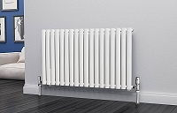 Eastgate Eclipse White Single Panel Horizontal Designer Radiator 600mm High x 1044mm Wide