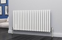 Eastgate Eclipse White Single Panel Horizontal Designer Radiator 600mm High x 1218mm Wide