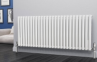 Eastgate Eclipse White Single Panel Horizontal Designer Radiator 600mm High x 1508mm Wide