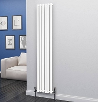 Eastgate Eclipse White Single Panel Vertical Radiator 1800mm High x 348mm Wide