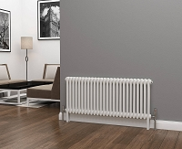 Eastgate Lazarus 2 Column White Horizontal Radiator 500mm High x 1164mm Wide