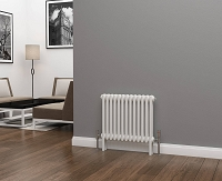 Eastgate Lazarus 2 Column White Horizontal Radiator 500mm High x 592mm Wide